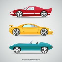 autos infantiles  Dibujos animados de coches Vectores  Autitos