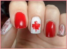 Canada Day check out www.MyNailPolishObsession.com for more nail art ideas.