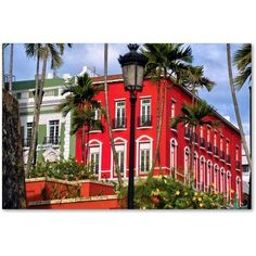 Trademark Fine Art Old San Juan 1 inch Canvas Art by CATeyes, Size: 16 x 24, Blue