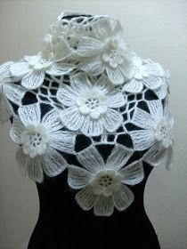 Beautiful floral lacy wrap