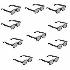 5721ad429a1 10 x Glasses for Passive LG Panasonic Sony TVs Monitor Passive