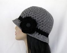 Crochet Classic Cloche with Flower