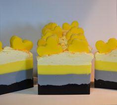 Sunflower scented shea butter melt & pour creation. Check out lakehurst farms on facebook. Find this soap on Etsy.com/shop/lakehurstfarms