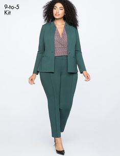 stretch work blazer women's plus size coats jackets eloquii Plus Size Suits, Look Plus Size, Plus Size Women, Blazers For Women, Suits For Women, Work Attire, Work Outfits, Work Casual, Casual Office