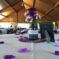 #Wedding Reception #Centerpiece #Purple