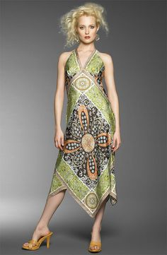 b522f0c924494 another cool scarf dress. with great fabric pattern usage. Scarf Dress