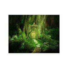 fairy forest dwelling ❤ liked on Polyvore featuring backgrounds, fantasy, nature, fairies, green, detail, embellishment and scenery