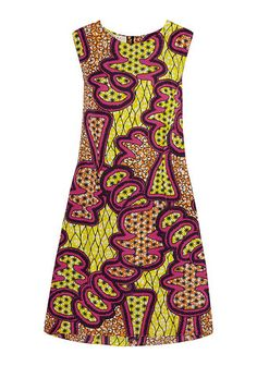 MARNI Printed Satin Crepe Dress Yellow - off, found on sale for Dress Outfits, Cool Outfits, Luxury Dress, Discount Designer Clothes, Crepe Dress, Yellow Dress, Clothes For Sale, Marni, Spring Fashion
