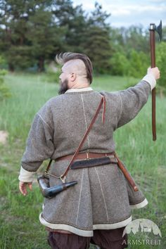 "Viking Kaftan ""Olaf the Stormbreaker"". Available in: natural wool broadcloth :: by medieval store ArmStreet"