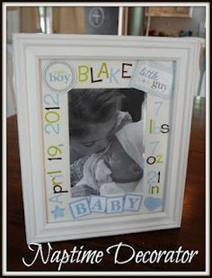 Darling DIY baby picture frame