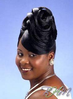 Dream Prom Hair style for Taj Prom Hairstyles For Short Hair, Black Girls Hairstyles, Bride Hairstyles, Ponytail Hairstyles, Black Hair 90s, Roll Hairstyle, Pin Up Hair, Ponytail Styles, Hair Shows