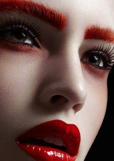 Make Up - Elsa Durrens - Beauty Punk Makeup, Red Makeup, Makeup Inspo, Makeup Art, Makeup Inspiration, Beauty Makeup, Makeup Looks, Hair Makeup, Hair Beauty