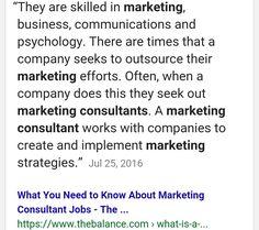 A Marketing Consultant Job Description