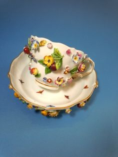 Image detail for -An unusual and beautiful Meissen Teacup and Saucer