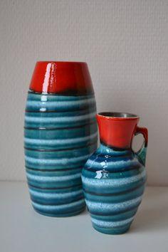 Set W. Germany Scheurich vases. by Vaastastischvintage on Etsy