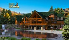 Log Homes and Log Home Floor Plans Cabins by Golden Eagle Log Homes 6 bedroom log cabin....oh yeah :)