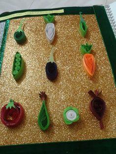 Quilling Vegetables shapes