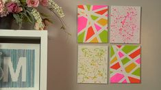 Look Over This Make a Splatter Paint Wall Decor. Do this on wall squares! Different colors though. The post Make a Splatter Paint Wall Decor. Do this on wall squares! Different colors thou… appeared first on 99 Decor .Painting diy easy canvases can Diy Canvas, Canvas Art, Canvas Paintings, Fabric On Canvas, Canvas Walls, Crafts To Do, Arts And Crafts, Easy Crafts, Diy Wanddekorationen