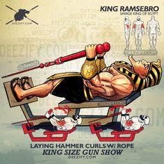 bicep exercise: ramse hammer curls rope