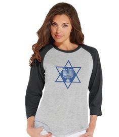 Now available on our store: Hanukkah Shirt - .... Check it out here! http://7ate9apparel.com/products/hanukkah-shirt-star-menorah-shirt-ladies-hanukkah-baseball-tee-happy-hanukkah-outfit-hanukkah-gift-idea-family-holiday-shirts?utm_campaign=social_autopilot&utm_source=pin&utm_medium=pin