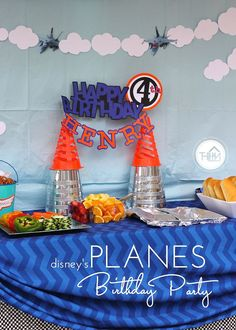 Henry's 4th Birthday-001 Disney Planes Party, Disney Planes Birthday, 4th Birthday Parties, 3rd Birthday, Birthday Ideas, Craft Projects For Kids, Diy Projects, Party Themes, Party Ideas