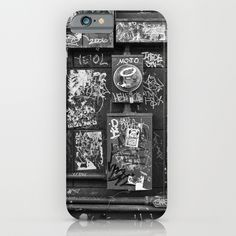 Graffiti design iPhone 6 case. Black and white photo on phone cases and more.