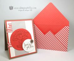 NEW Mojo Monday & 4 Sneak Peeks! - stampinpretty.com/ out the Mojo Monday Sketch that inspired this Stampin' Up! You've Got This card. Mary Fish, Stampin' Pretty. #stampinup #stampingup