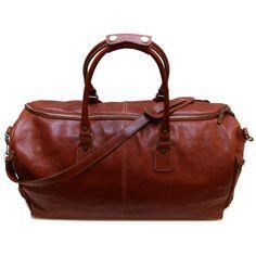 leather convertible garment duffle bag