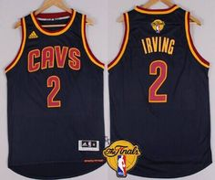 Men's Cleveland Cavaliers #2 Kyrie Irving 2015 The Finals New Navy Blue Jersey
