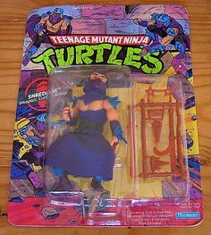 TMNT PLAYMATES 1990 TEENAGE MUTANT NINJA TURTLES MOC Fan Club unpunched SHREDDER
