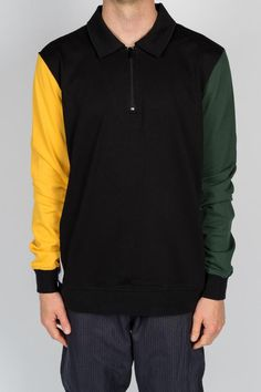 FUTUR HW RIB POLO CREW BLACK Nike Classic Cortez Leather, Rib Knit, Polo, Yellow, Model, Cotton, Jackets, Black, Style