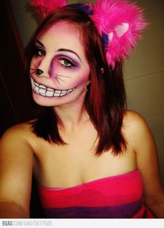 Cheshire Cat makeup. Hehe made me think of a certain Cheshire boy... Who happens to like cats...