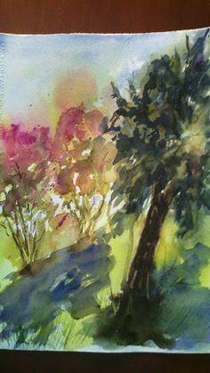 Pintar acuarelas: Luz de otoño