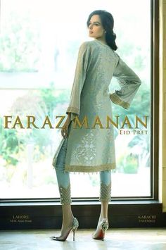 I don't know how between his Lawn, Pret a Porter and Couture he's even managed the 'Faraz Manan Eid Collection'. Mehendi Outfits, Eid Outfits, Pakistani Outfits, Indian Outfits, Salwar Kameez, Patiala, Churidar, Salwar Suits, Pakistani Couture