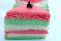 Indonesia rainbow sponge cake, really nice color cake #food and drink