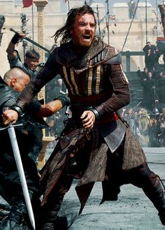 Michael Fassbender in the upcoming movie Assassin's Creed