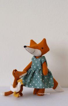 Image of Elli Fabric Letters, Fox Toys, Handmade Toys, Dinosaur Stuffed Animal, Christmas Ornaments, Holiday Decor, Rag Dolls, Image, Animals