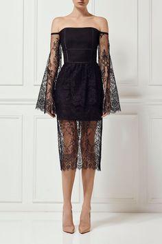 PRE-ORDER - KARLA LACE DRESS - Gold by MISHA - Shop