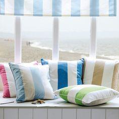 Love a cabana stripe... on the Beach, no less.