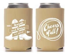 Wedding Favors Rustic Wedding Party Cheers Y'all by SipHipHooray
