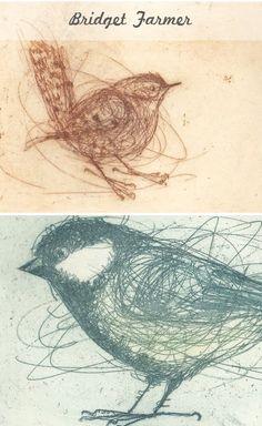 Beautiful birds by @bridgetfarmer found @http://teaforjoy.blogspot.com/