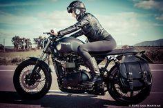 RocketGarage Cafe Racer: Girl Rider by Ugo Martens