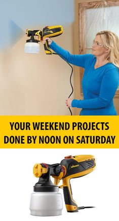 If interior wall painting is on your do list, learn how using a paint sprayer like one of the Wagner FLEXiO series gives you the professional finish you want faster than a brush or roller. Home Improvement Projects, Home Projects, Home Renovation, Home Remodeling, House Painting, Painting Tips, Spray Painting, Painting Walls, Wall Paintings