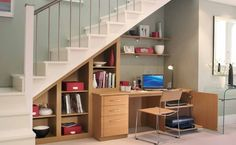 Home office ideas - small office work spaces Under stair storage ...