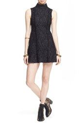 Free People 'Queen Lace' Turtleneck Minidress