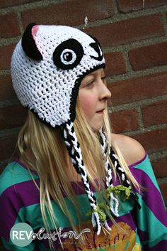 free crochet pattern: pandahat REVitup style {for moodkids}