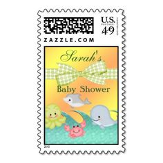 Cheery Baby Sea Creatures Baby Shower Postage