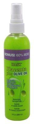 Hask Placenta Leave-In Conditioner Treatment Olive Oil Bonus Pack) Oily Hair, Leave In Conditioner, Keratin, Olive Oil, Curly Hair Styles, Hair Care, Shampoo, Beauty, Hair Care Tips