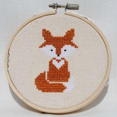 Fox Cross Stitch Pattern PDF Forest Animals Modern Nursery