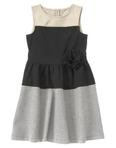 Colorblock Ponte Dress at Crazy 8 Soooo cute for either of the girls
